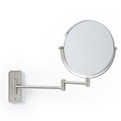 Zadro Non Lighted Wall Mount Mirror in Satin Nickel