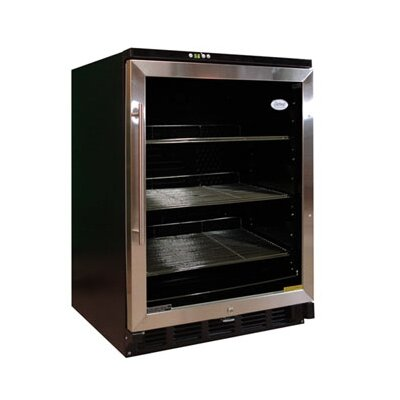 Vinotemp Beverage Cooler in Black with Stainless Steel Trim