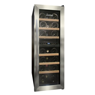 Vinotemp VT-21 2 Zone Thermoelectric Wine Cooler with Stainless Trim