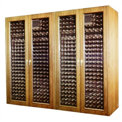 Vinotemp 1400G Oak Wine Cooler Cabinet with Glass Doors