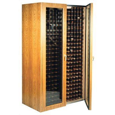 Vinotemp 700 Oak Wine Cooler Cabinet with Glass Doors