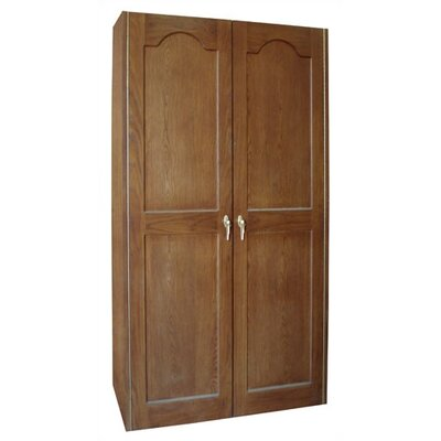 Vinotemp 440 Two Door Oak Wine Cooler Cabinet with Furniture Trim