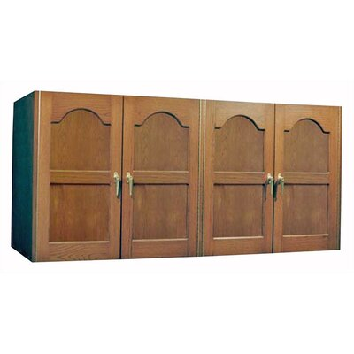 Oak Wine Cooler Credenza with Furniture Trim