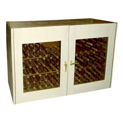 Vinotemp 2 Door Oak Wine Cooler Credenza with Rectangular Glass Doors