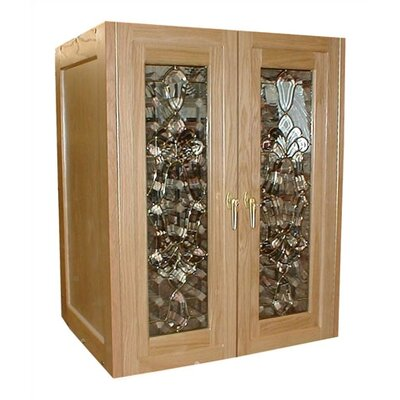 Vinotemp Bonaparte 2 Door Oak Wine Cooler Cabinet