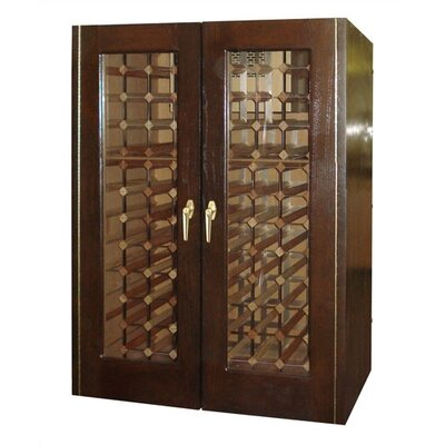 2 Door Oak Wine Cooler with Rectangular Glass Doors