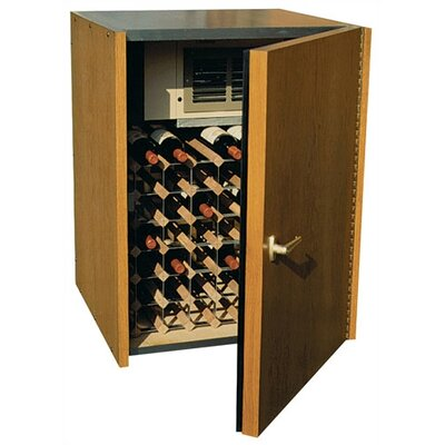 Single Door Oak Wine Cooler
