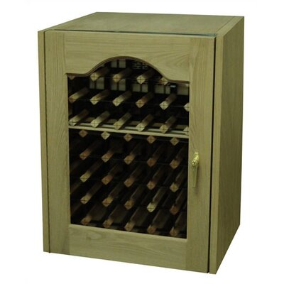 Provincial Single Door Oak Wine Cooler with Glass Window