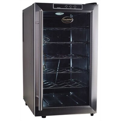 Vinotemp VT-18 Thermoelectric Wine Cooler with Stainless Door