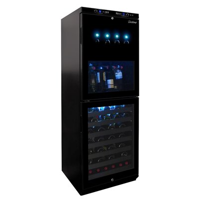 Vinotemp 88 Bottle Dual Zone Wine Refrigerator
