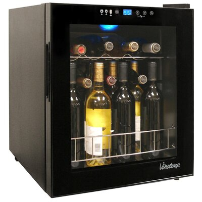Vinotemp 15 Bottle Single Zone Wine Refrigerator