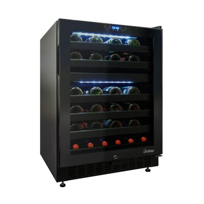 Vinotemp 46 Bottle Dual-Zone Right-Hinge Wine Cooler