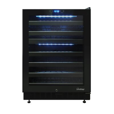 46 Bottle Dual-Zone Right-Hinge Wine Cooler