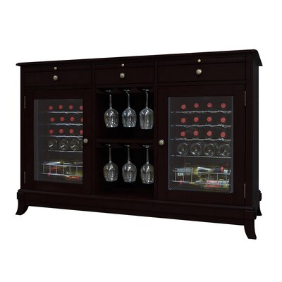 Cava 36-Bottle Dual-Zone Thermoelectric Wine Credenza