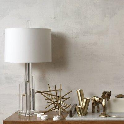 DwellStudio 3 Piece Slanted Brass Candleholders