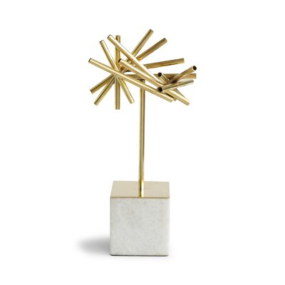 DwellStudio Tubular Burst Objet with Stone Base