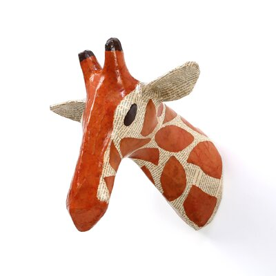 DwellStudio Giraffe Natural Papier-Mache Bust