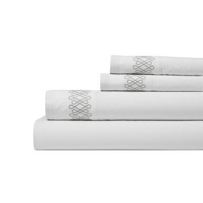 DwellStudio Filigree Smoke Sheet Set