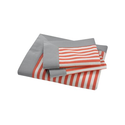 DwellStudio Draper Stripe Persimmon King Duvet Set