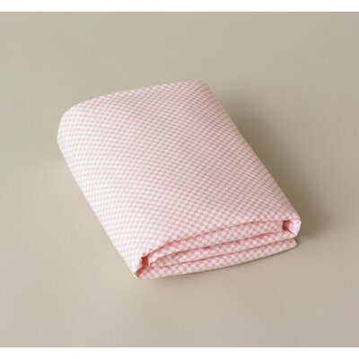 DwellStudio Check Blossom Fitted Crib Sheet