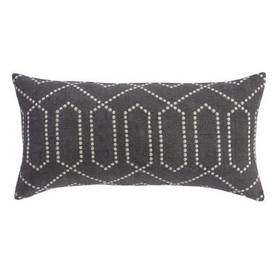 DwellStudio Dotted Trellis Pillow in Charcoal