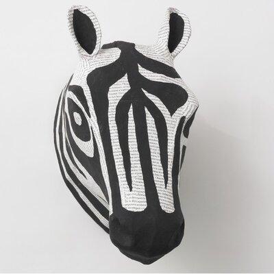 DwellStudio Zebra Natural Papier-Mache Head Wall Décor