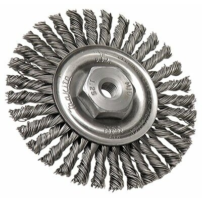 "Makita Full Cable Twist Knot Wire Wheel Brushes - 4""x.020 ss twist wire brush wheel w/m10x1.25"