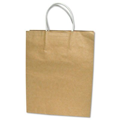 Cosco Home and Office Premium Large Brown Paper Shopping Bag, 50 per Pack