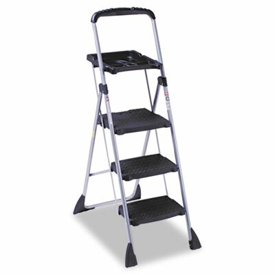 Cosco Home and Office Max Work Steel Platform Step Stool, 22w x 3d x 61h, Black