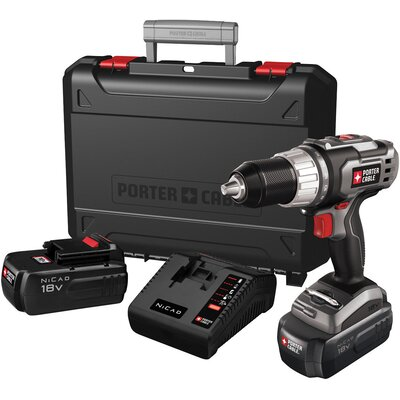 Porter Cable 18 Volt Drill Driver Kit  PC180DK-2