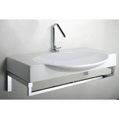 latoscana swing 85 above counter wall mount bathroom sink reviews wayfair. Black Bedroom Furniture Sets. Home Design Ideas