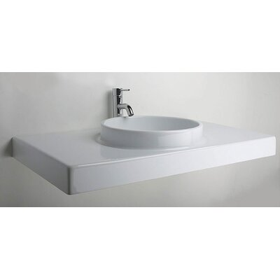 LaToscana Planet 85 Above Counter or Wall Mount Bathroom Sink with Towel Rod