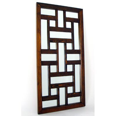 Ninpo Mirror in Distressed Brown