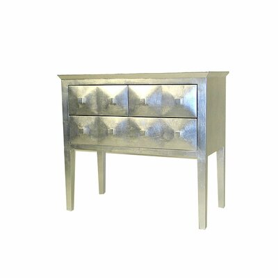 Modern Reflective 3 Drawer Chest