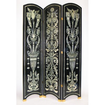 Arched Grecian Room Divider in Silver