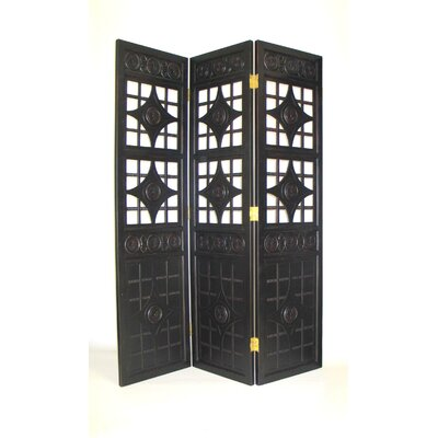 "Wayborn 72"" x 60"" Gothic Diamond 3 Panel Room Divider"