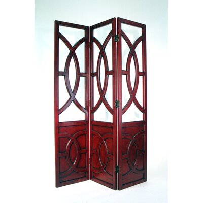Wayborn Overlapping Circles Room Divider in Chestnut