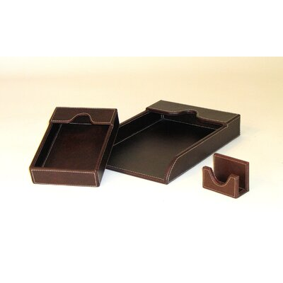 Wayborn Cigar Room Leather Covered Grand Tray