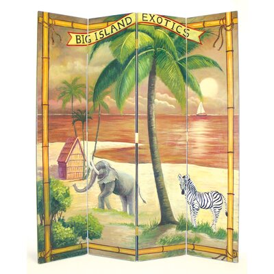"Wayborn 72"" x 64"" The Big Island 4 Panel Room Divider"