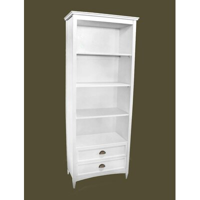 Traditional Bookcase in Distressed White