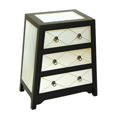<strong>Wayborn</strong> Helene 3 Drawer Angled Chest