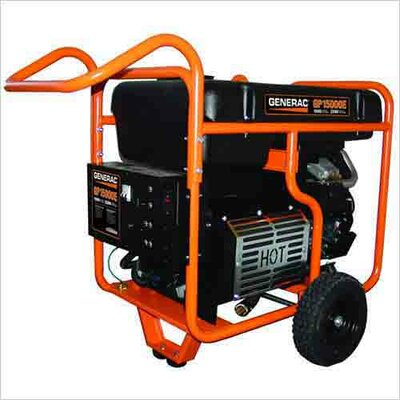 Generac 15,000 Watt Portable Gasoline Generator with Electric Start