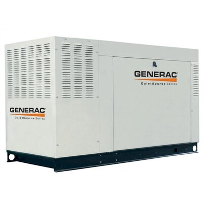 Generac 45 Kw Liquid-Cooled Three Phase 120/208 V Standby Generator with Catalytic Converter, and CSA, SCAQMD, and EPA Compliance in Steel