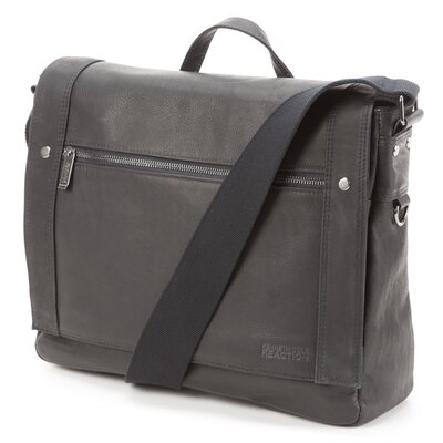 <strong>Kenneth Cole Reaction</strong> Columbian Leather Messenger Bag