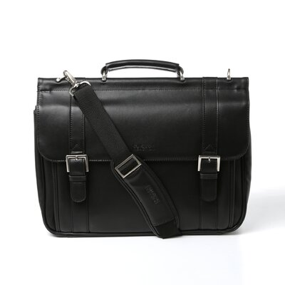 Kenneth Cole Reaction Manhattan Flal Leather Briefcase