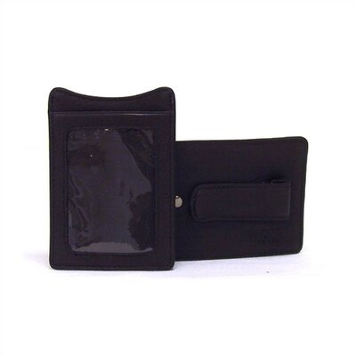 Kenneth Cole Reaction Freudian Clip - Black Money Clip With ID Window In Keepsake Tray