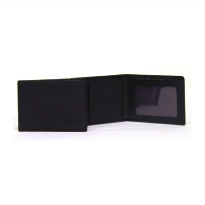Kenneth Cole Reaction Black Front Pocket Billfold In Keepsake Tray
