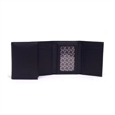 Black Trifold Wallet In Keepsake Tray