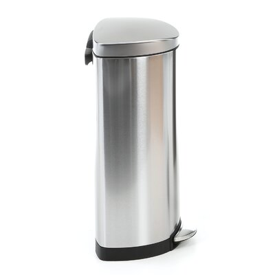 simplehuman 8-Gal. Semi-Round Step Trash Can