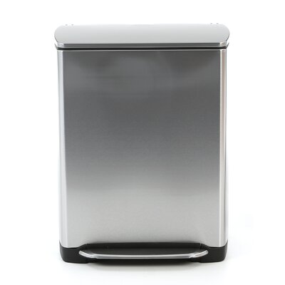 simplehuman 13-Gal. Rectangular Step Trash Can